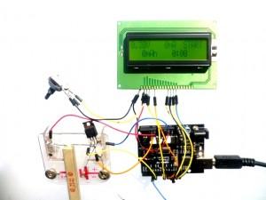 Testaufbau Arduino Akkutester