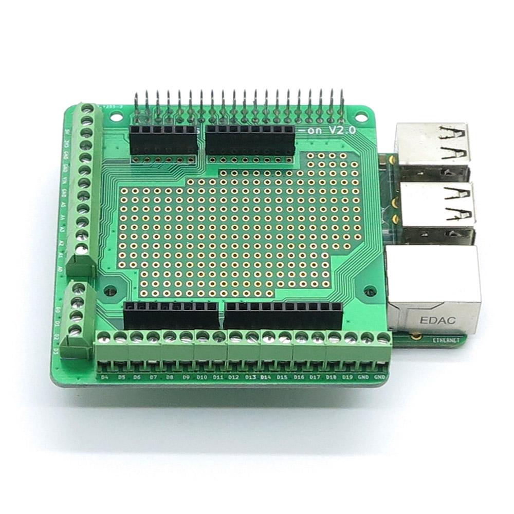 Raspberry PI Screws Prototype Add-on V2.0